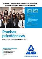 Portada del libro 9788414232835 Pruebas Psicotécnicas para Personal NO Sanitario Hospital Universitario Fundación de Alcorcón y Hospital Universitario de Fuenlabrada