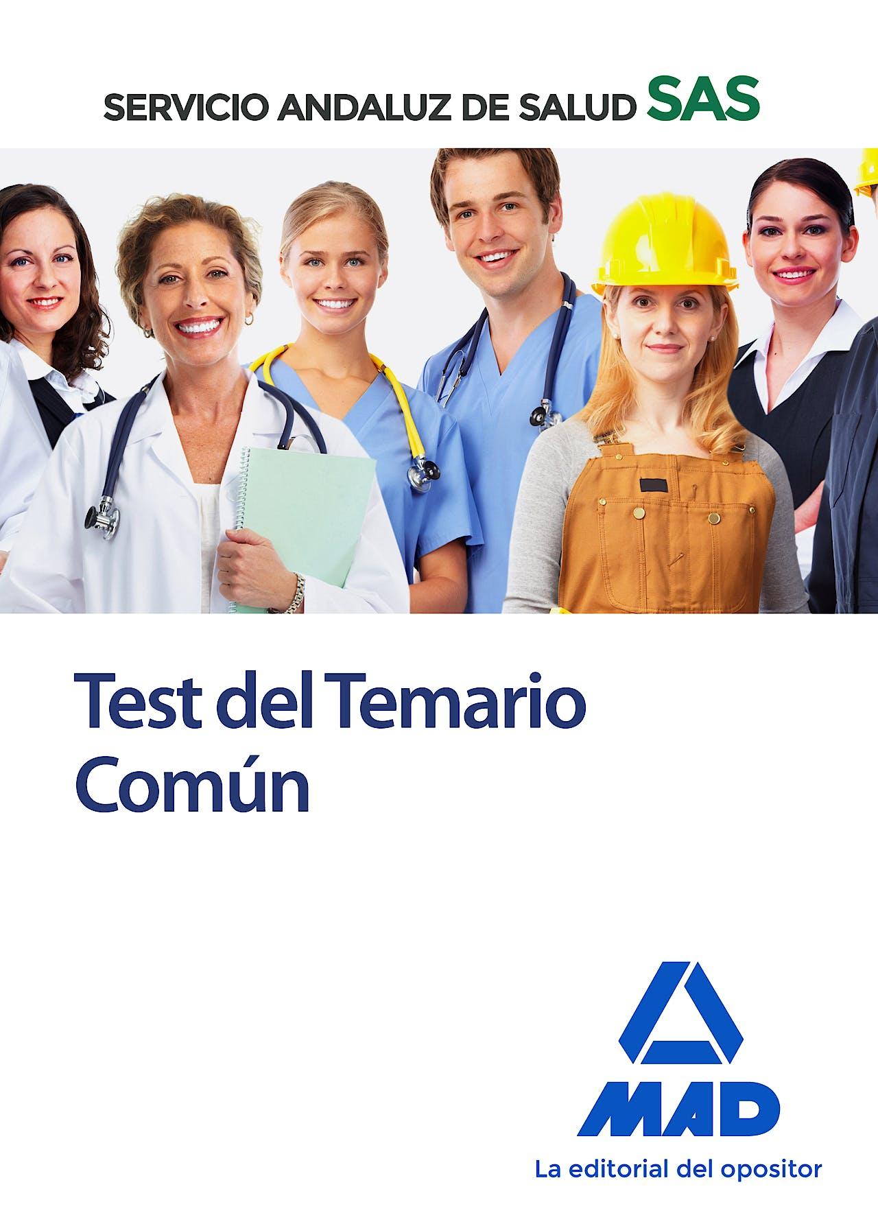Portada del libro 9788414234969 Test del Temario Común Servicio Andaluz de Salud (SAS)