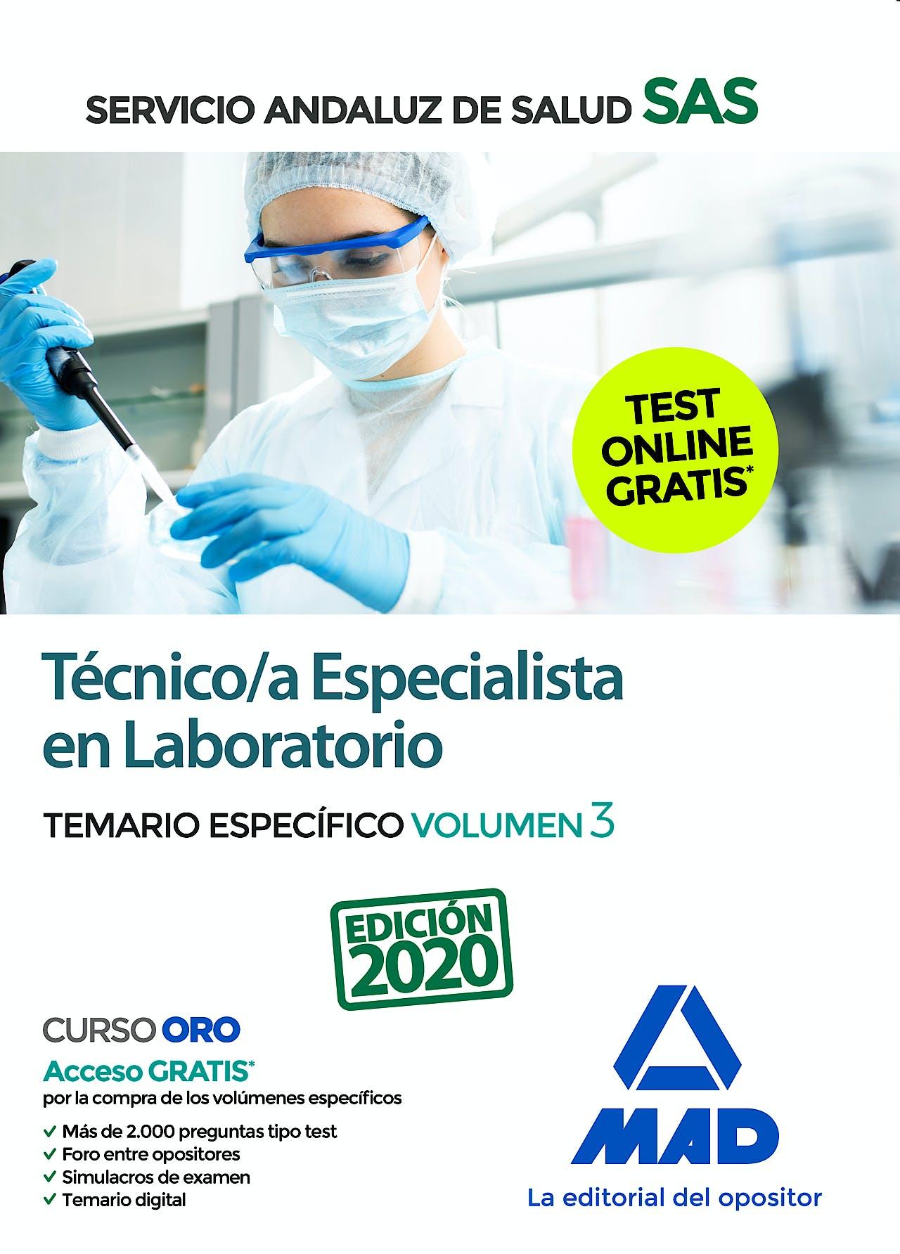 Portada del libro 9788414235959 Técnico/a Especialista en Laboratorio Servicio Andaluz de Salud (SAS). Temario Específico, Vol. 3