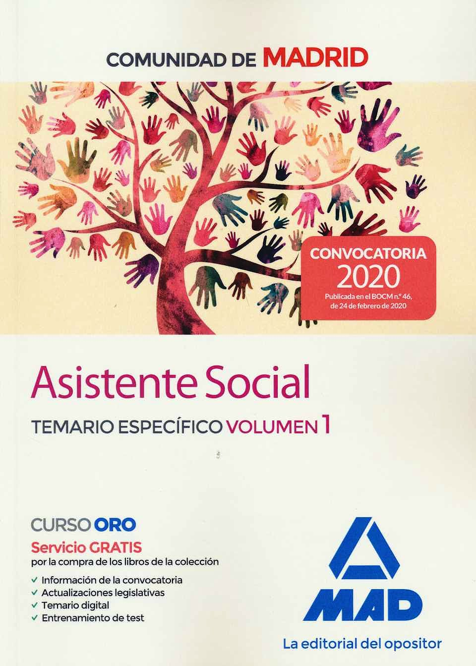 Portada del libro 9788414236499 Asistente Social Comunidad de Madrid. Temario Específico, Vol. 1