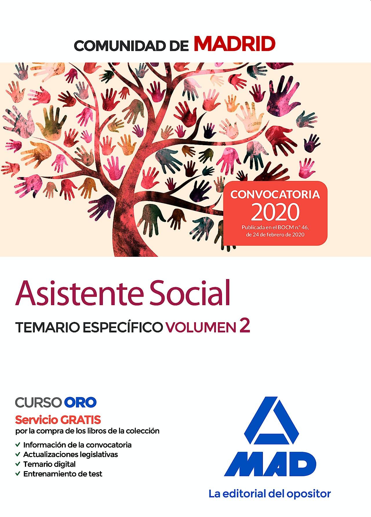 Portada del libro 9788414236505 Asistente Social Comunidad de Madrid. Temario Específico, Vol. 2
