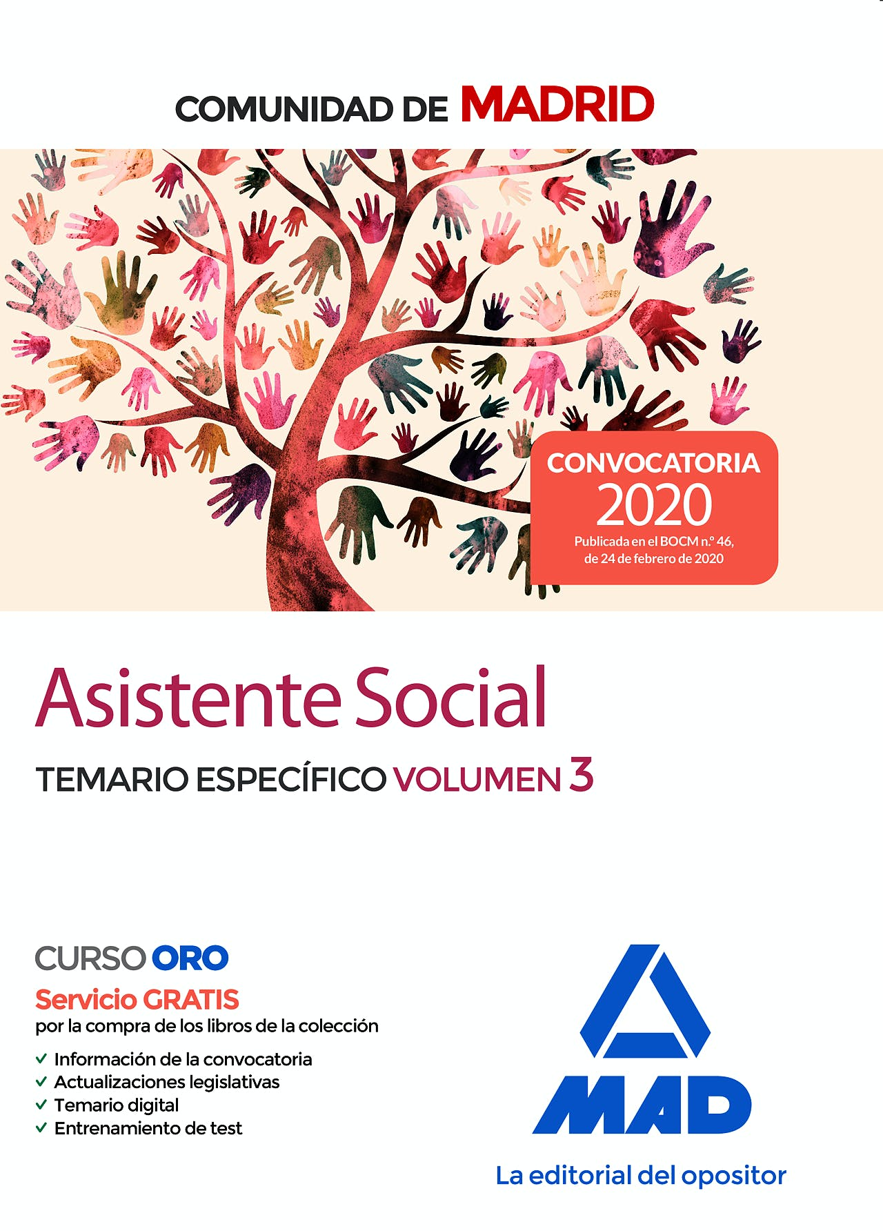 Portada del libro 9788414236512 Asistente Social Comunidad de Madrid. Temario Específico, Vol. 3