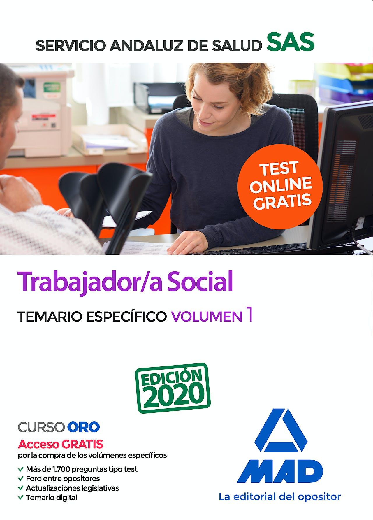 Portada del libro 9788414236789 Trabajador/a Social Servicio Andaluz de Salud (SAS). Temario Específico, Vol. 1
