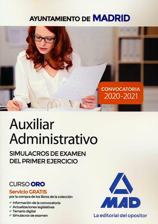 Portada del libro 9788414237236 Auxiliar Administrativo Ayuntamiento de Madrid. Simulacros de Examen del Primer Ejercicio