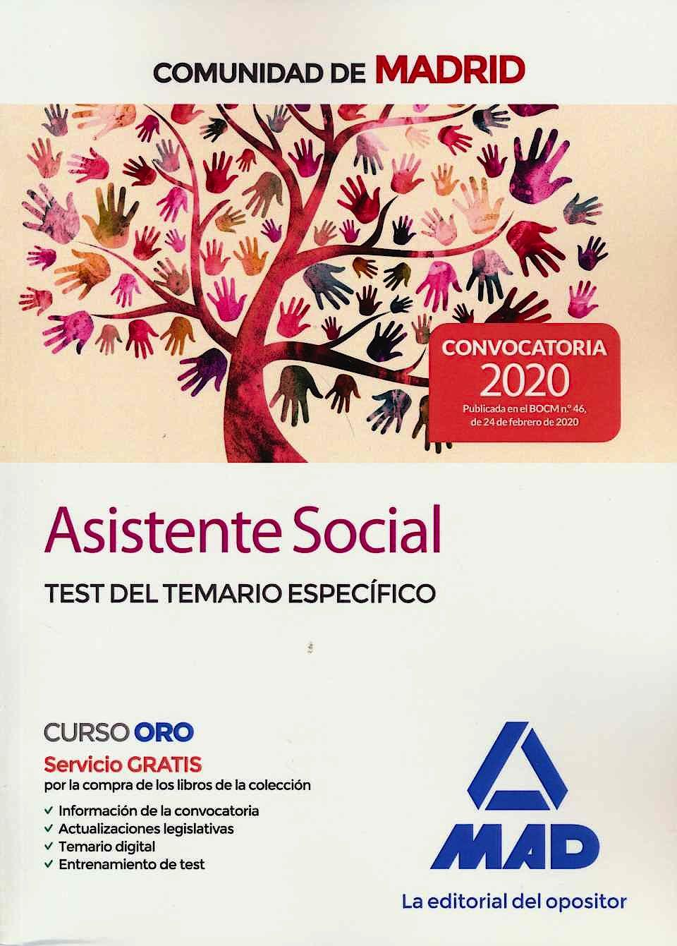 Portada del libro 9788414237304 Asistente Social Comunidad de Madrid. Test del Temario Específico