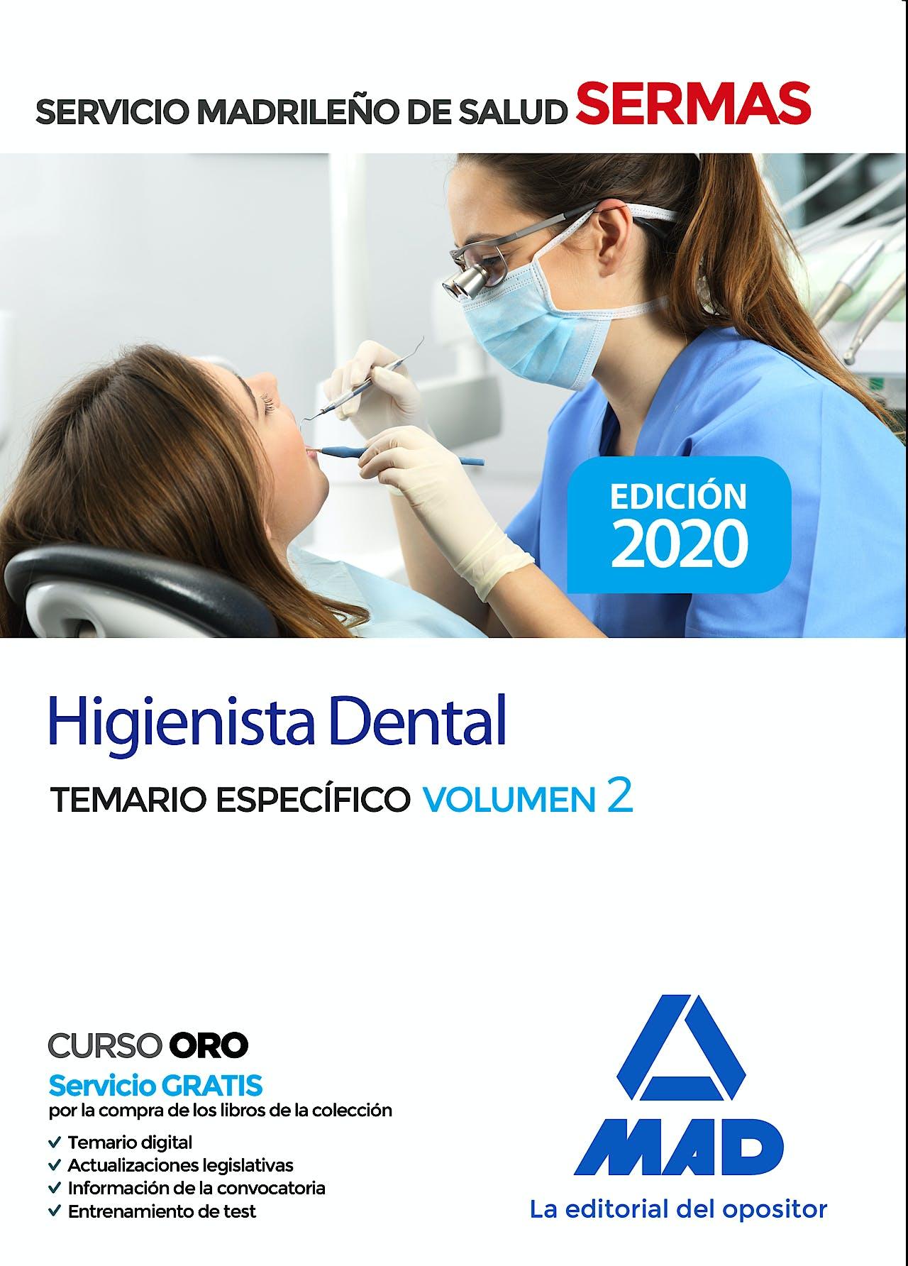 Portada del libro 9788414237335 Higienista Dental Servicio Madrileño de Salud (SERMAS). Temario Específico, Vol. 2