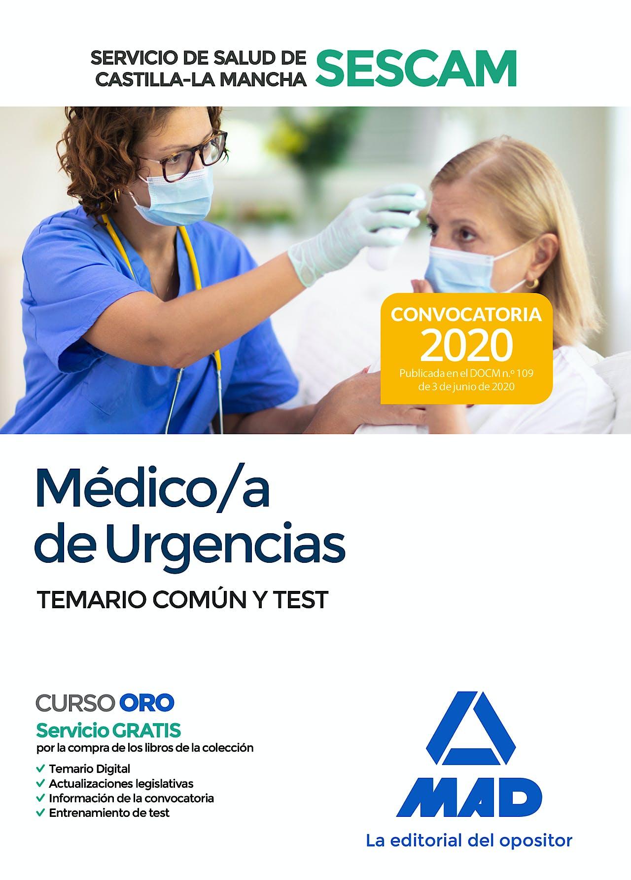 Portada del libro 9788414237533 Médico/a de Urgencias Servicio de Salud de Castilla-La Mancha (SESCAM). Temario Común y Test