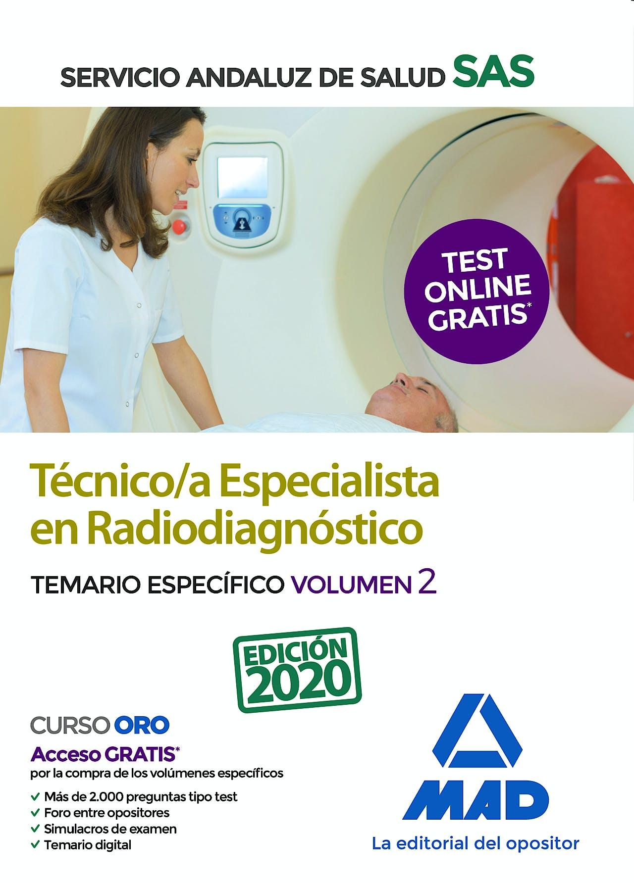 Portada del libro 9788414237571 Técnico/a Especialista en Radiodiagnóstico del Servicio Andaluz de Salud. Temario Específico, Vol. 2