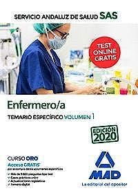 Portada del libro 9788414237625 Enfermero/a Servicio Andaluz de Salud (SAS). Temario Específico, Vol. 1