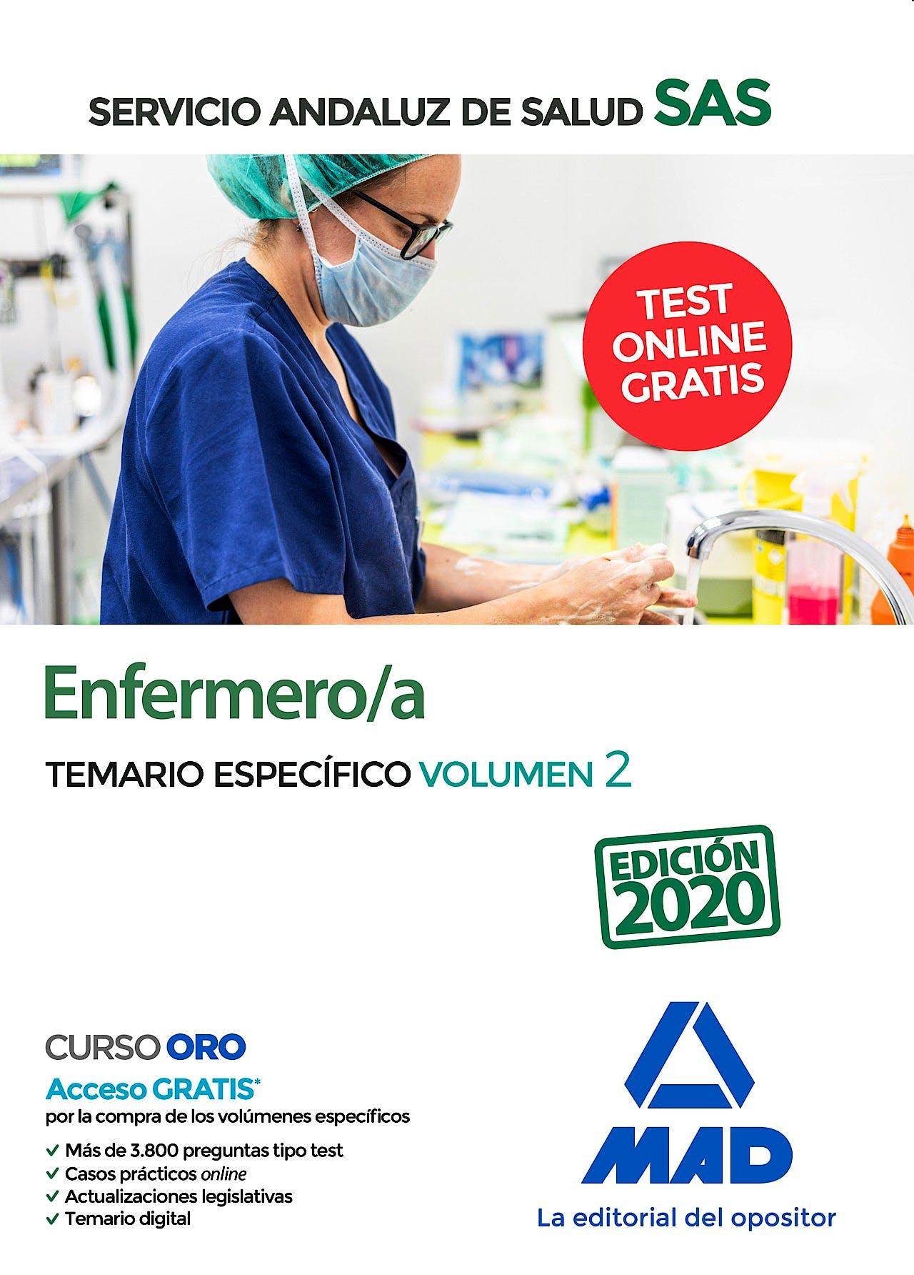 Portada del libro 9788414237632 Enfermero/a Servicio Andaluz de Salud (SAS). Temario Específico, Vol. 2