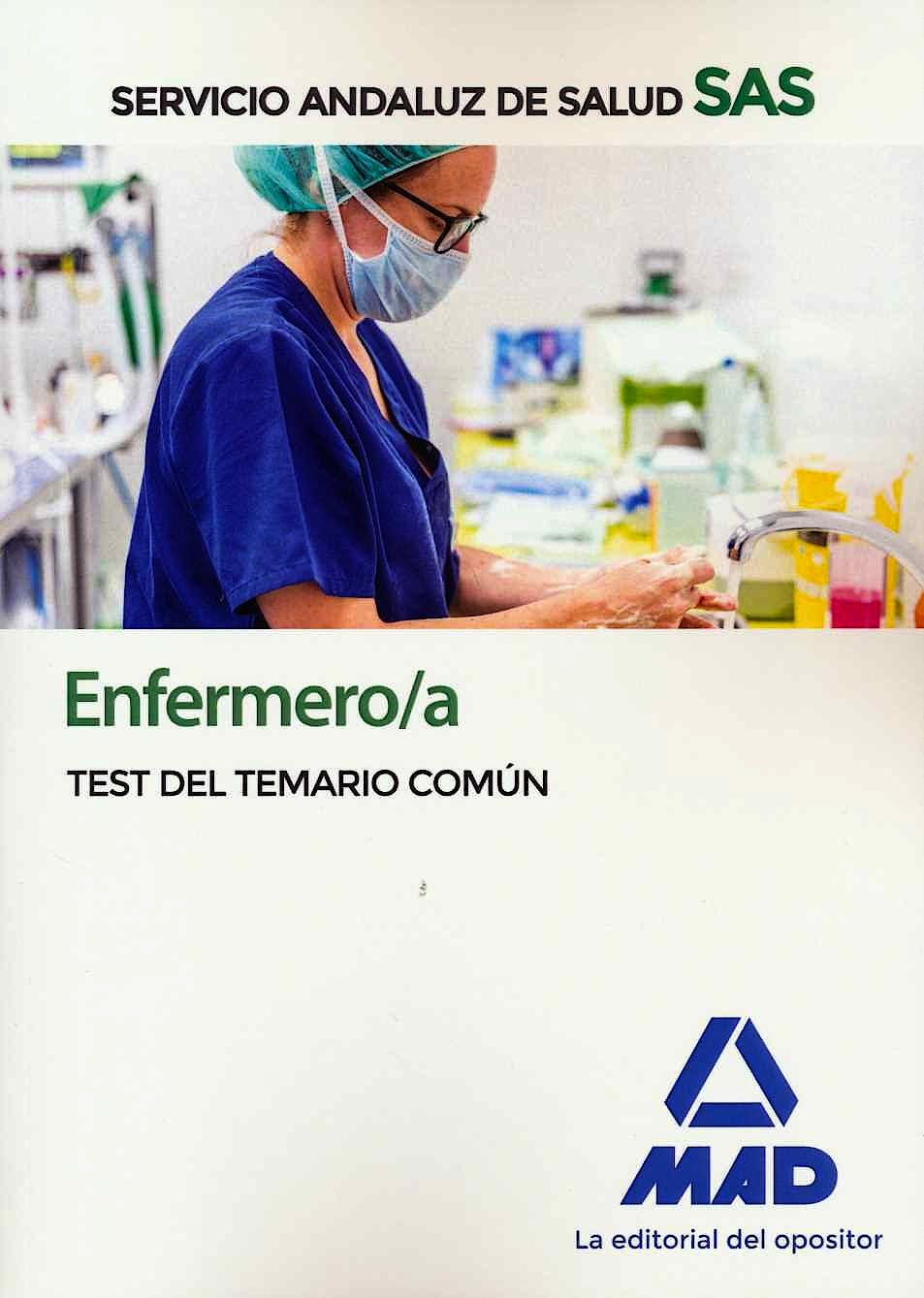 Portada del libro 9788414237656 Enfermero/a Servicio Andaluz de Salud (SAS). Test del Temario Común
