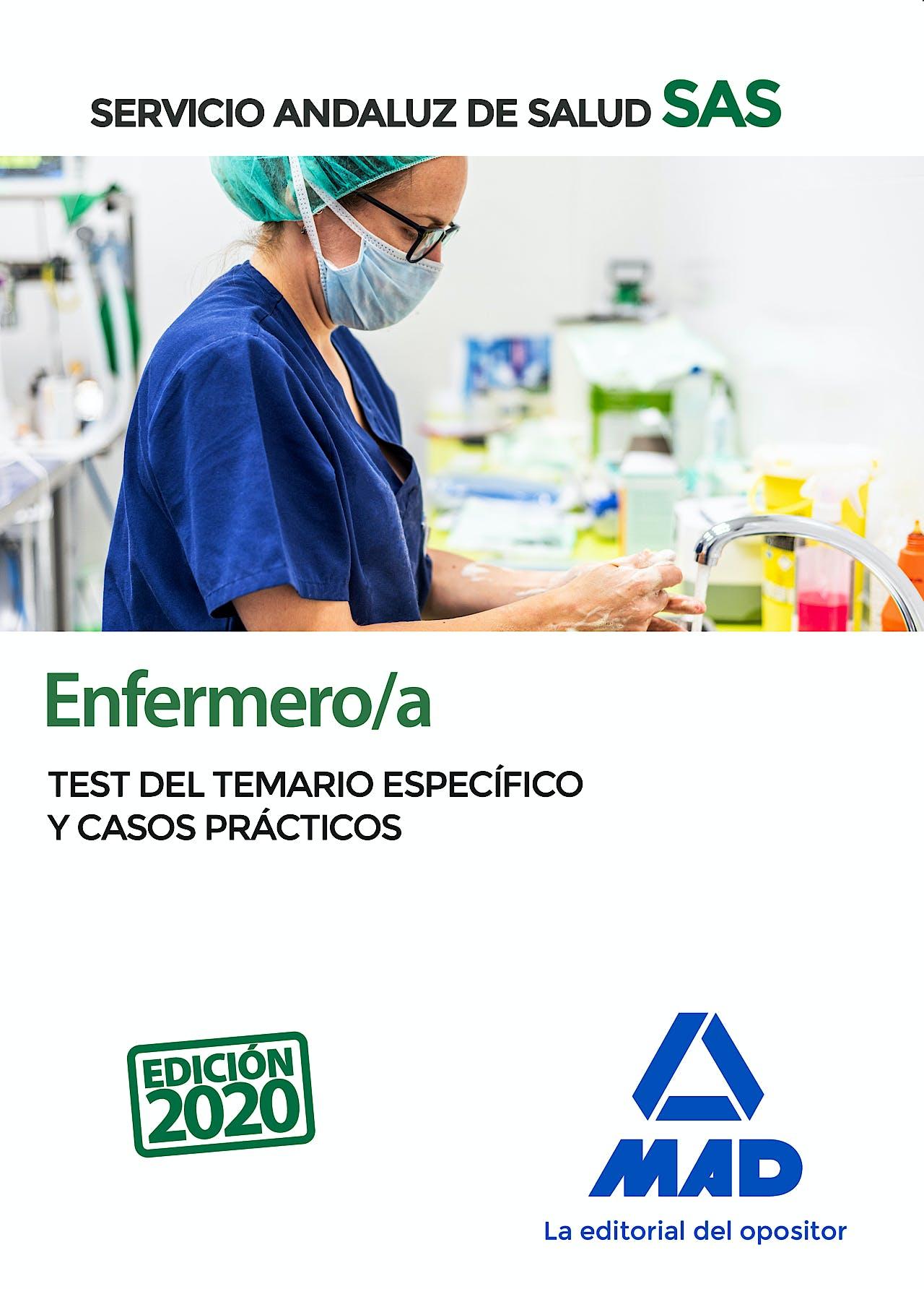 Portada del libro 9788414237663 Enfermero/a Servicio Andaluz de Salud (SAS). Test del Temario Específico y Casos Prácticos