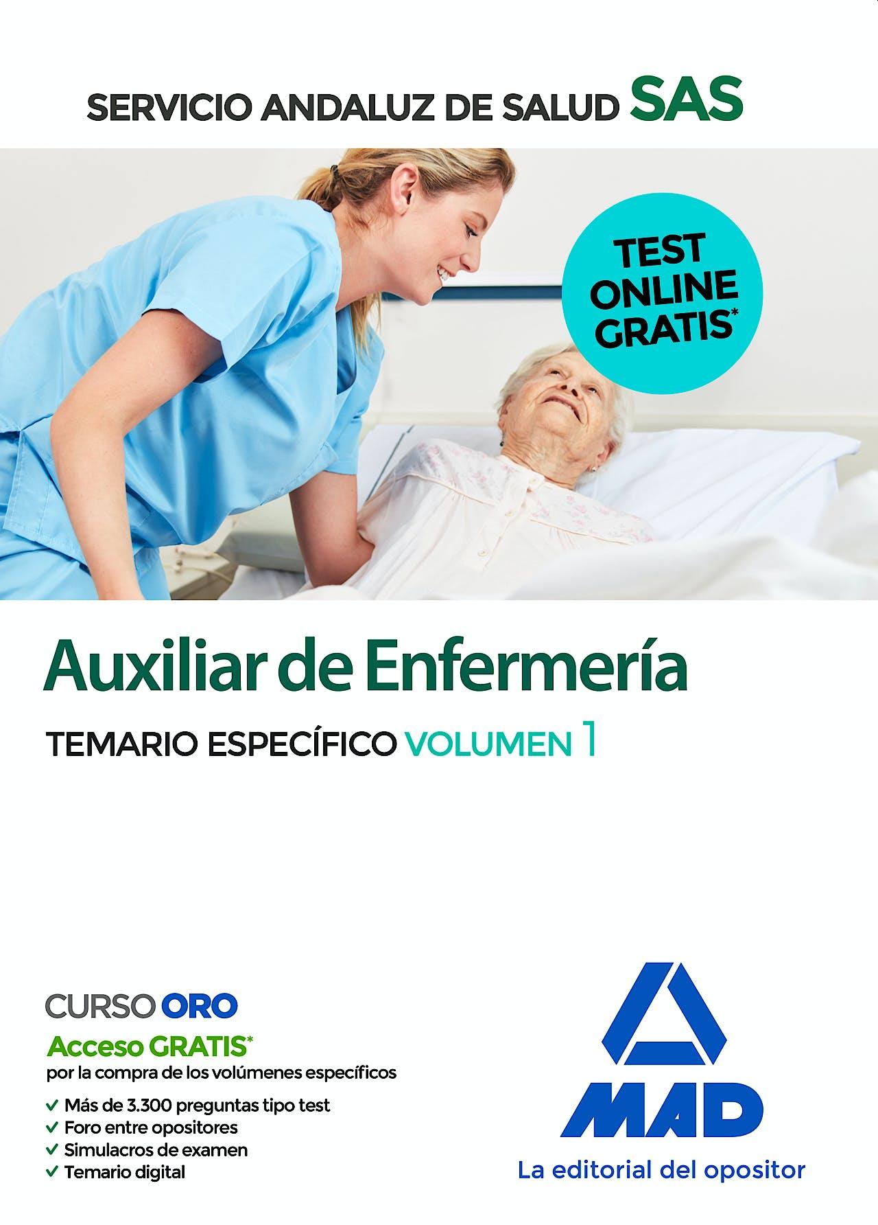 Portada del libro 9788414237687 Auxiliar de Enfermería del Servicio Andaluz de Salud. Temario Específico, Vol. 1