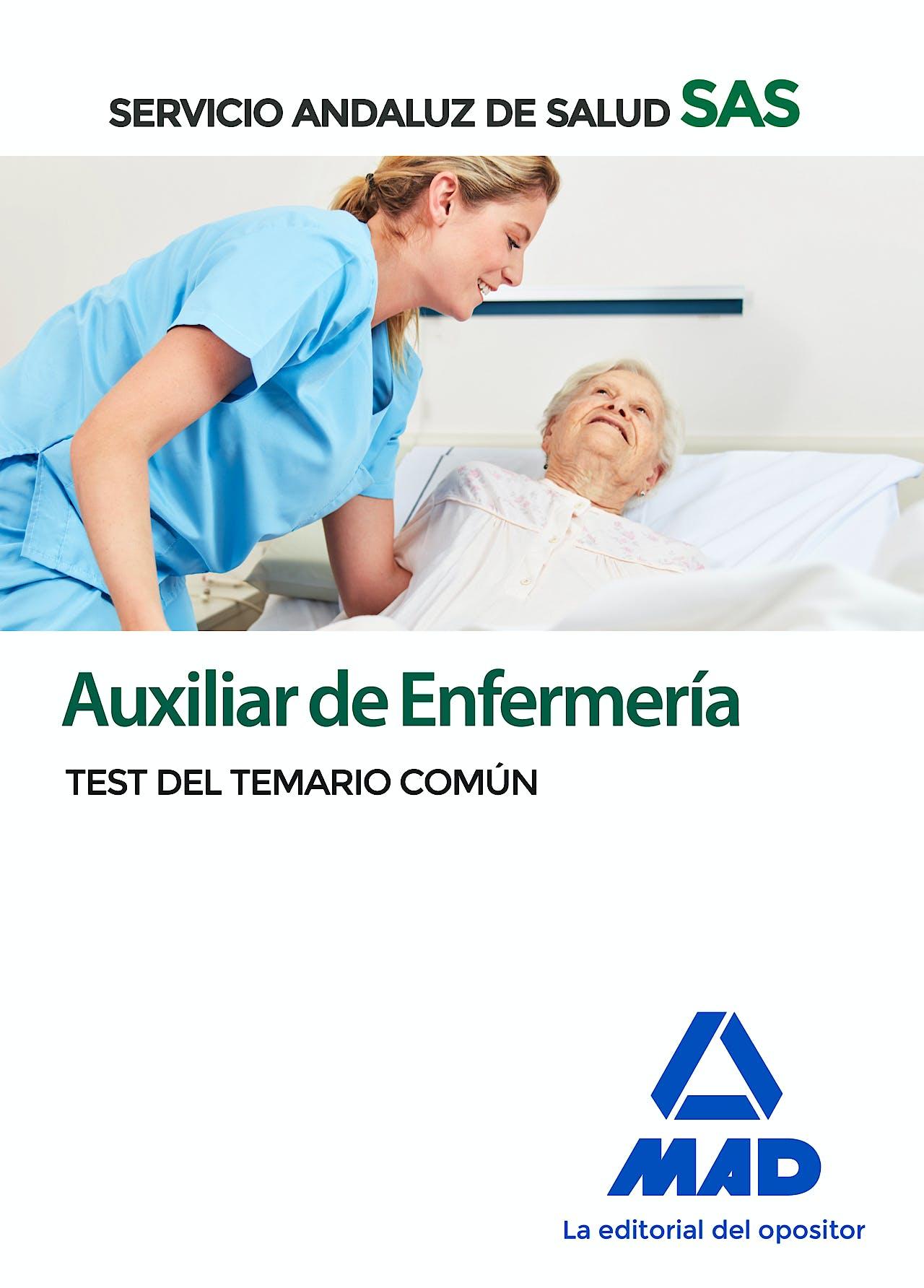 Portada del libro 9788414237700 Auxiliar de Enfermería Servicio Andaluz de Salud (SAS). Test del Temario Común