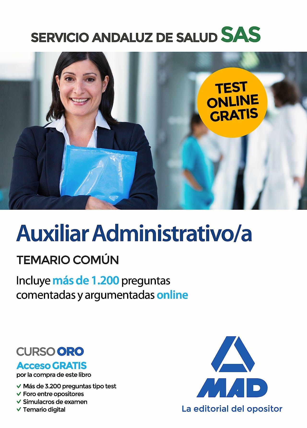 Portada del libro 9788414237731 Auxiliar Administrativo/a Servicio Andaluz de Salud (SAS). Temario Común