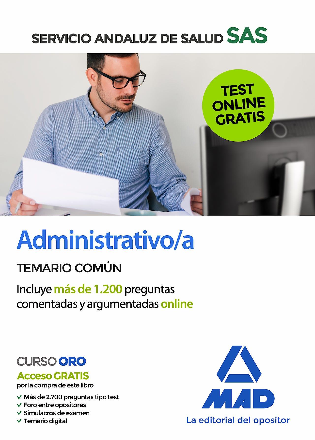 Portada del libro 9788414237786 Administrativo/a Servicio Andaluz de Salud (SAS). Temario Común