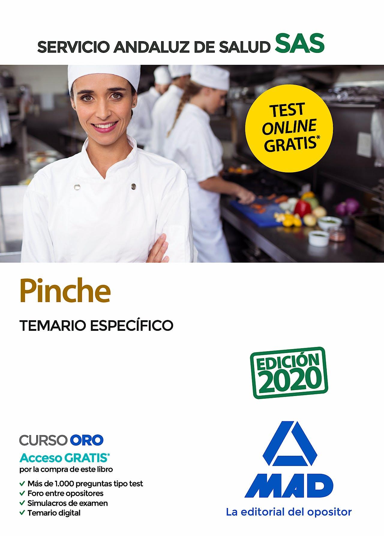 Portada del libro 9788414237854 Pinche Servicio Andaluz de Salud (SAS). Temario Específico