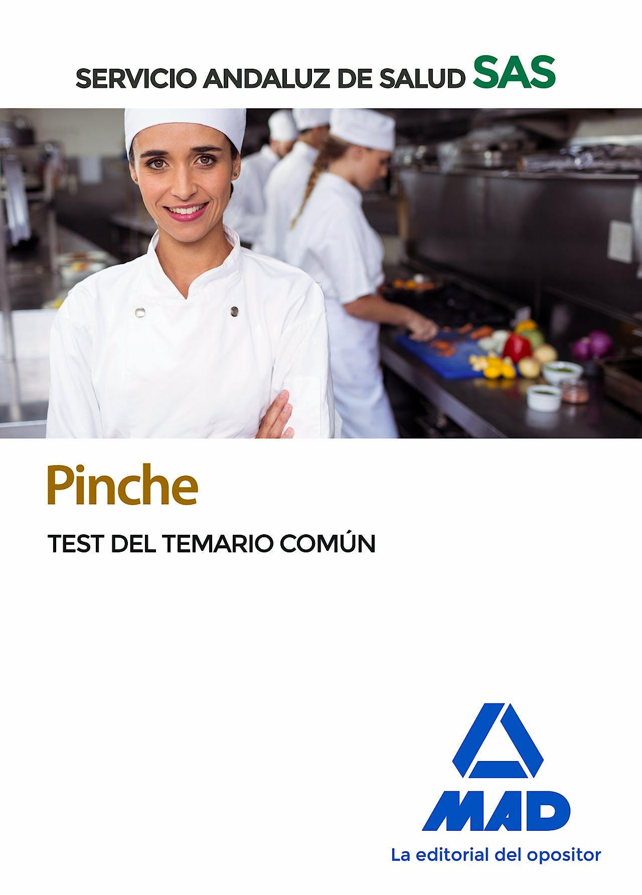 Portada del libro 9788414237861 Pinche Servicio Andaluz de Salud (SAS). Test del Temario Común
