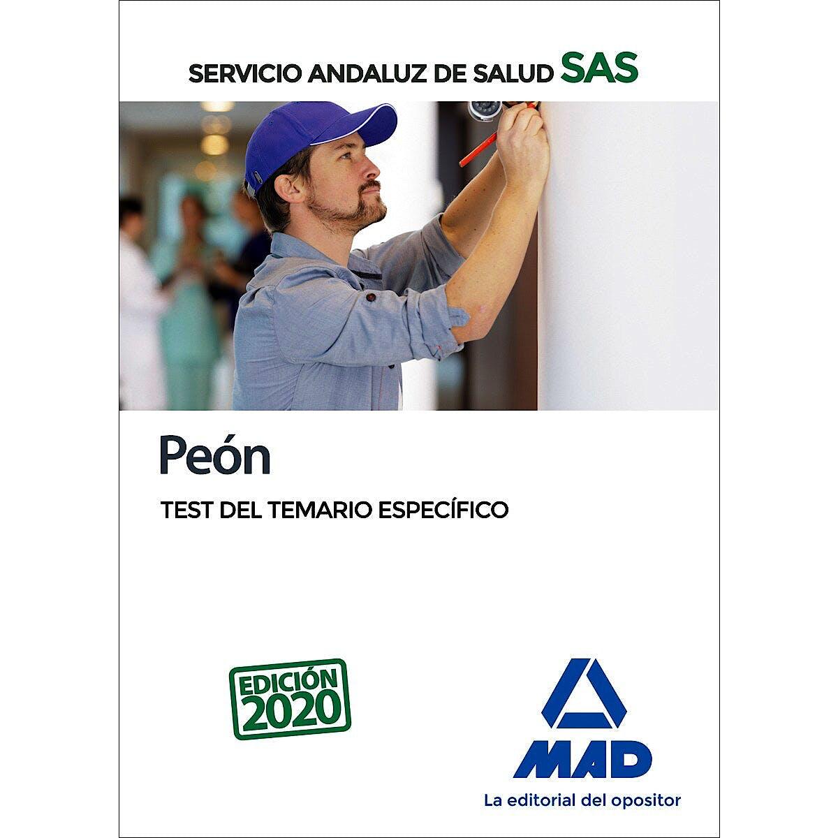 Portada del libro 9788414237908 Peón Servicio Andaluz de Salud (SAS). Test del Temario Específico