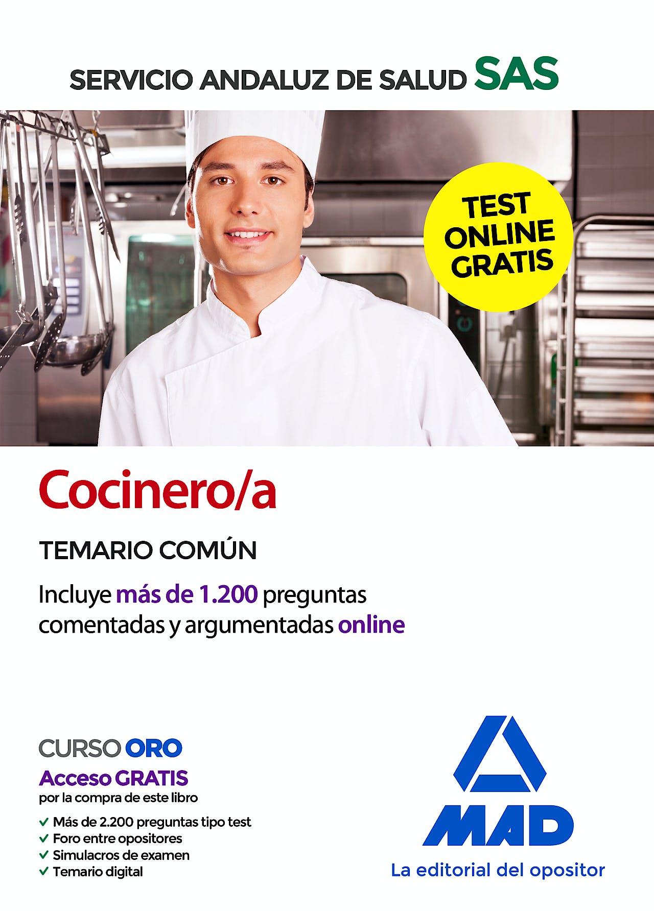 Portada del libro 9788414237915 Cocinero/a Servicio Andaluz de Salud (SAS). Temario Común