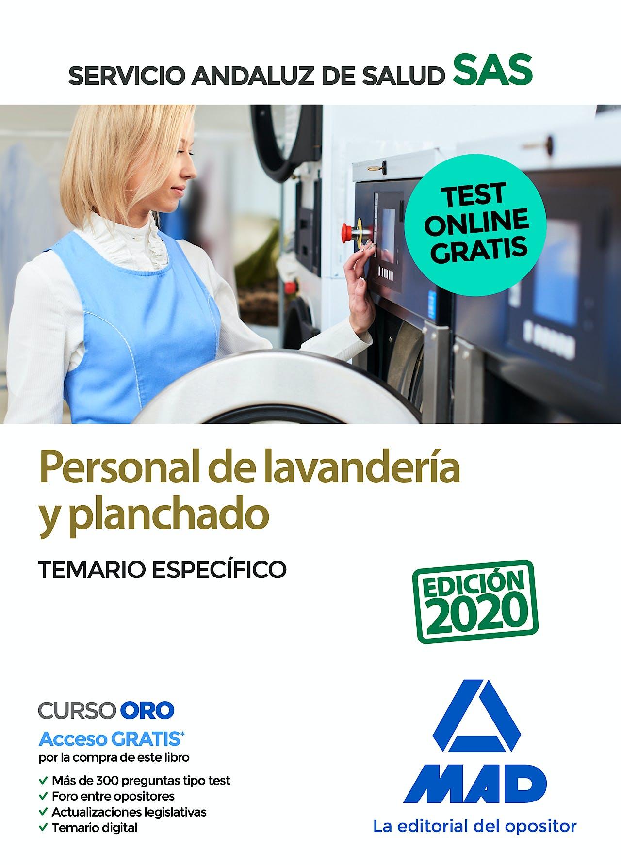 Portada del libro 9788414237953 Personal de Lavandería y Planchado Servicio Andaluz de Salud (SAS). Temario Específico
