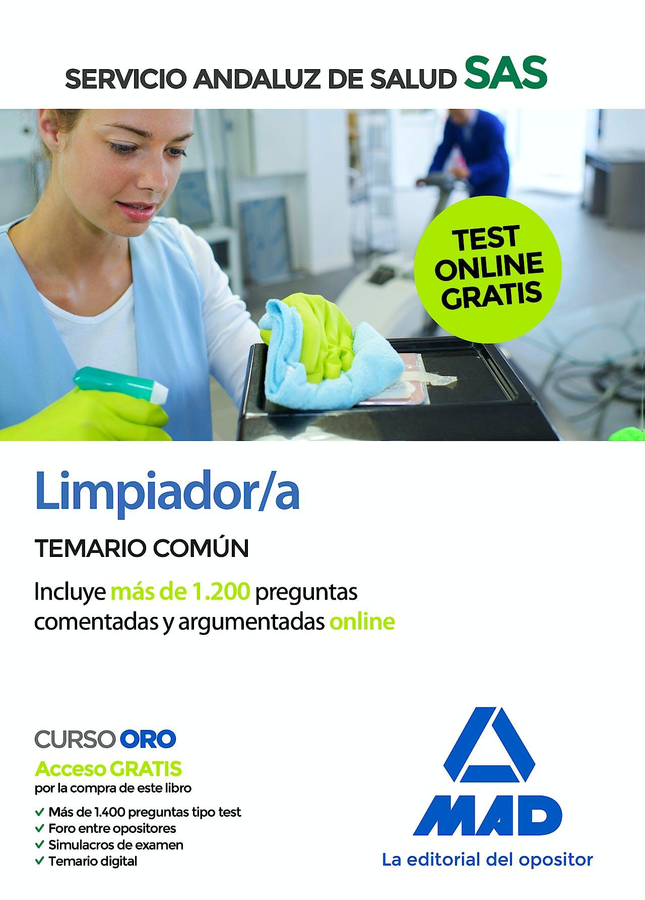 Portada del libro 9788414238080 Limpiador/a Servicio Andaluz de Salud (SAS). Temario Común
