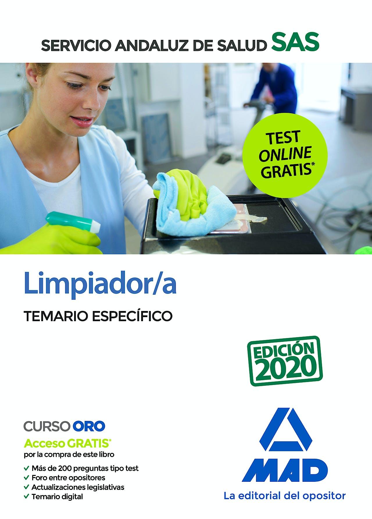 Portada del libro 9788414238103 Limpiador/a Servicio Andaluz de Salud (SAS). Temario Específico