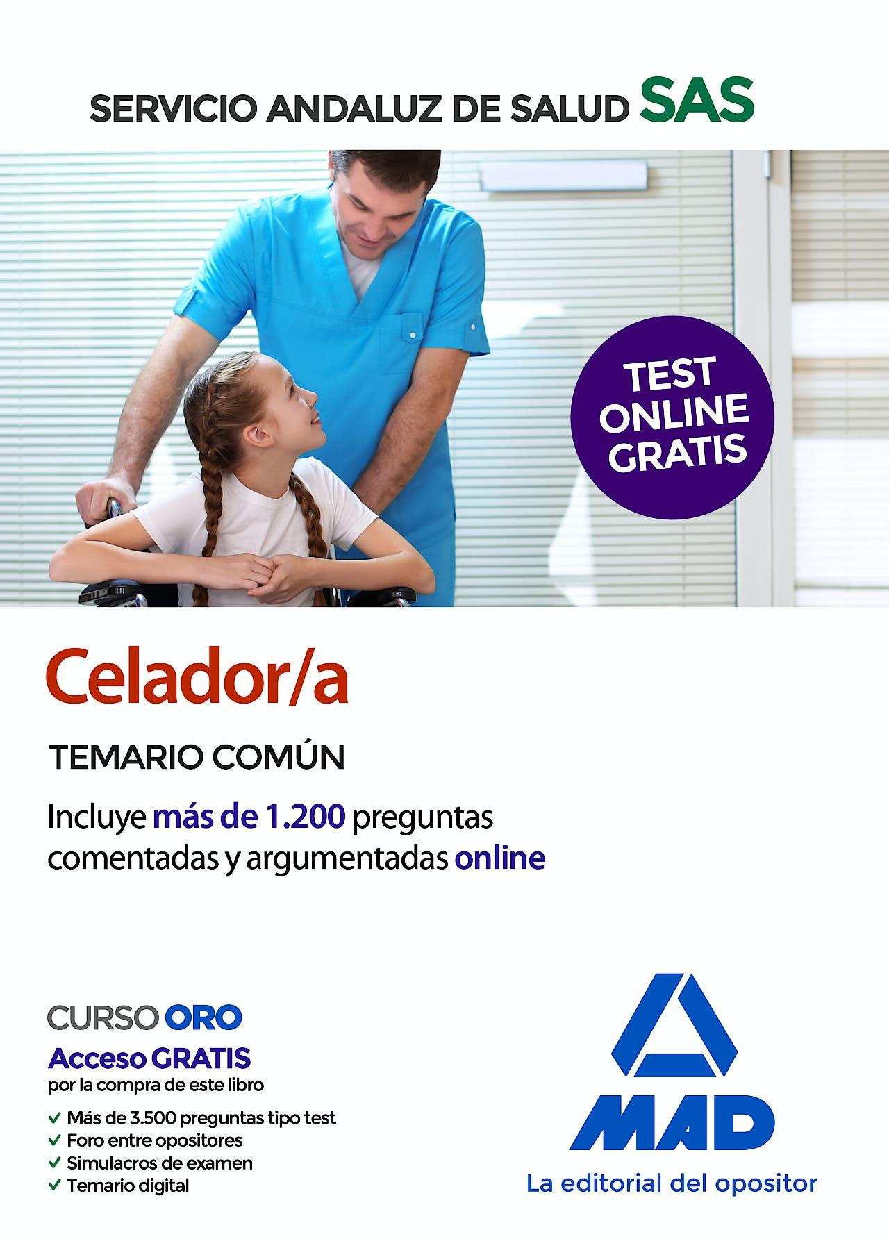 Portada del libro 9788414238127 Celador/a Servicio Andaluz de Salud (SAS). Temario Común