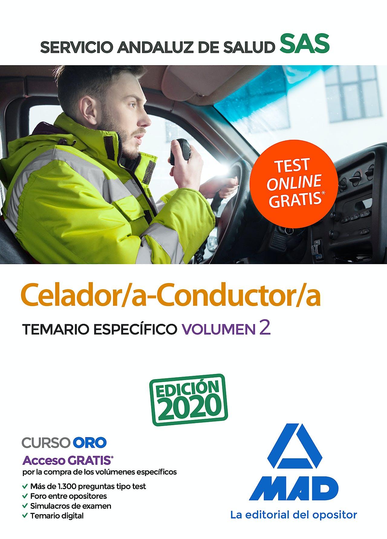 Portada del libro 9788414238196 Celador/a-Conductor/a Servicio Andaluz de Salud (SAS). Temario Específico, Vol. 2