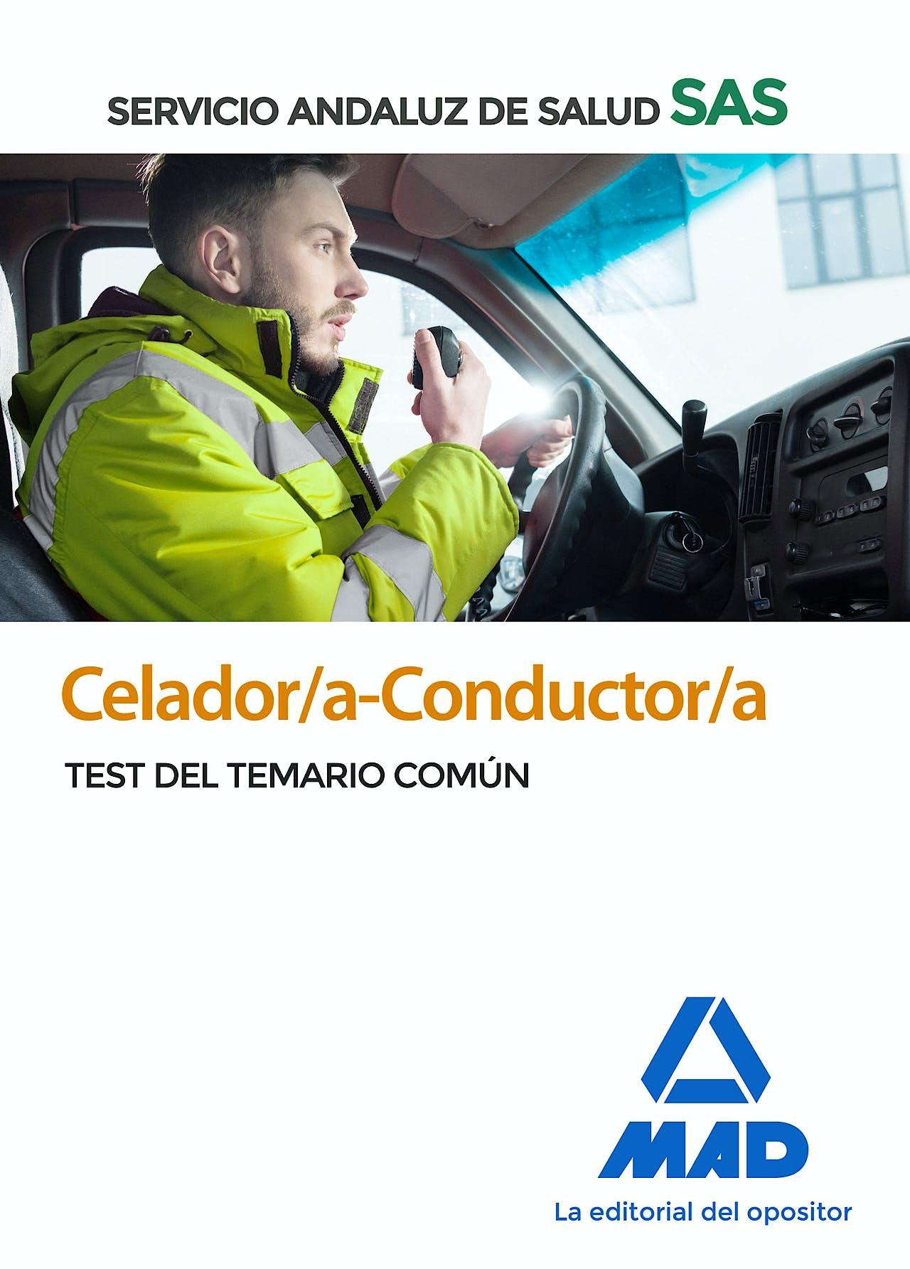 Portada del libro 9788414238202 Celador/a-Conductor/a Servicio Andaluz de Salud (SAS). Test del Temario Común