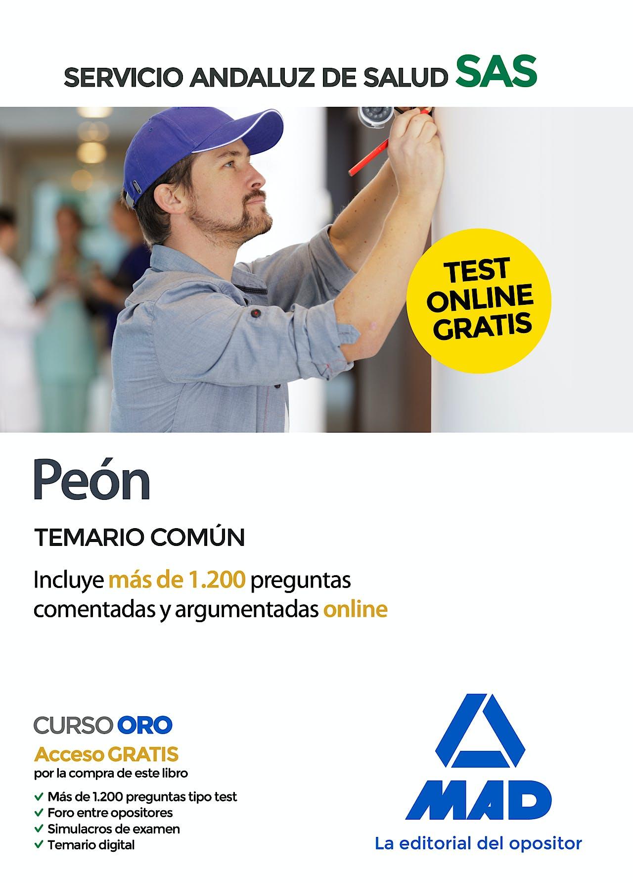 Portada del libro 9788414238240 Peón Servicio Andaluz de Salud (SAS). Temario Común