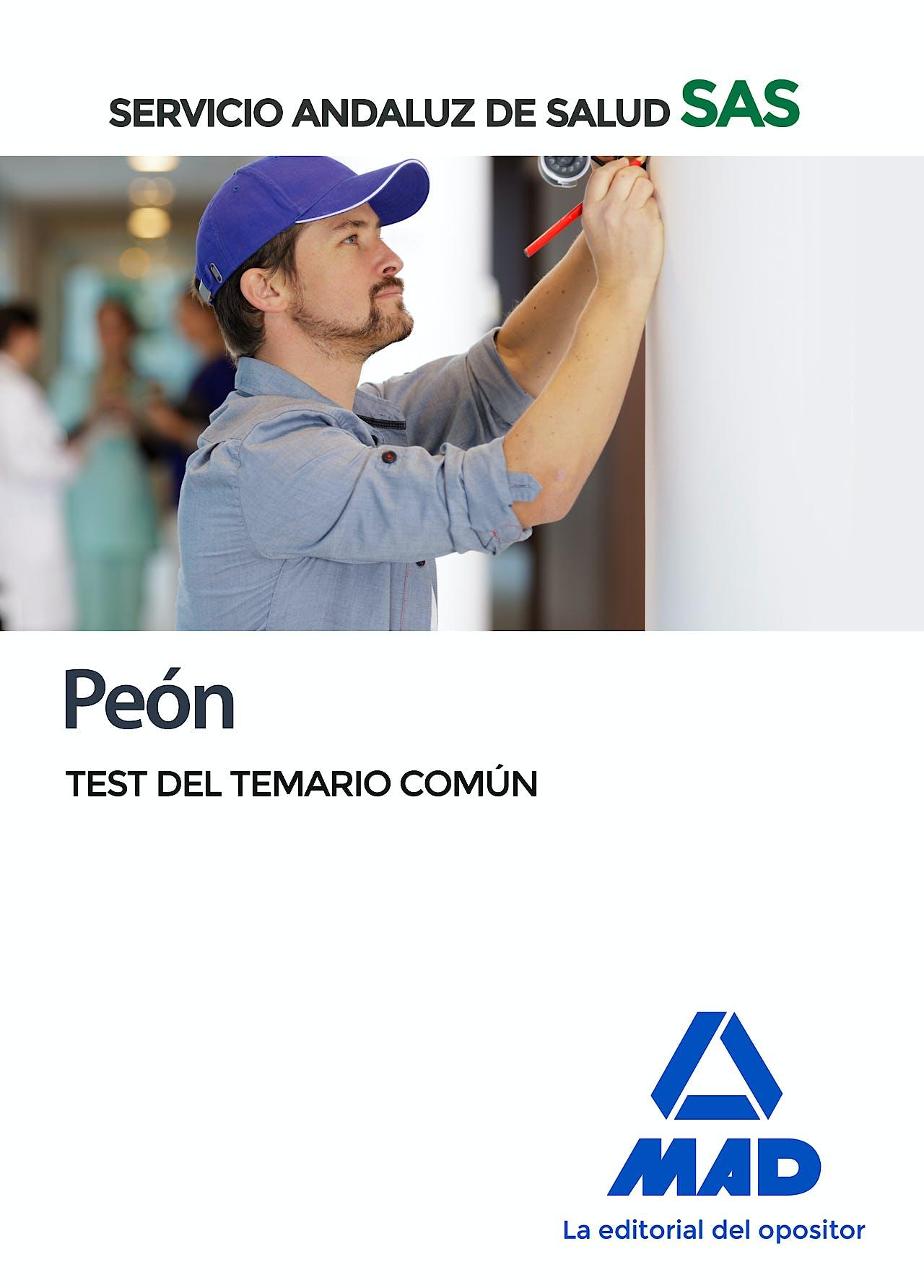 Portada del libro 9788414238257 Peón Servicio Andaluz de Salud (SAS). Test del Temario Común