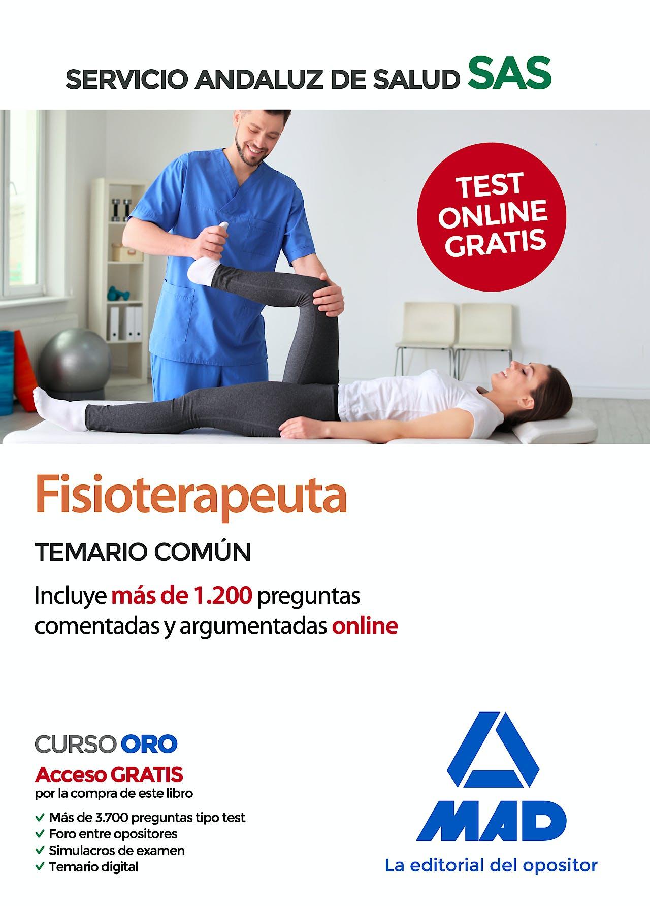 Portada del libro 9788414238349 Fisioterapeuta Servicio Andaluz de Salud (SAS). Temario Común