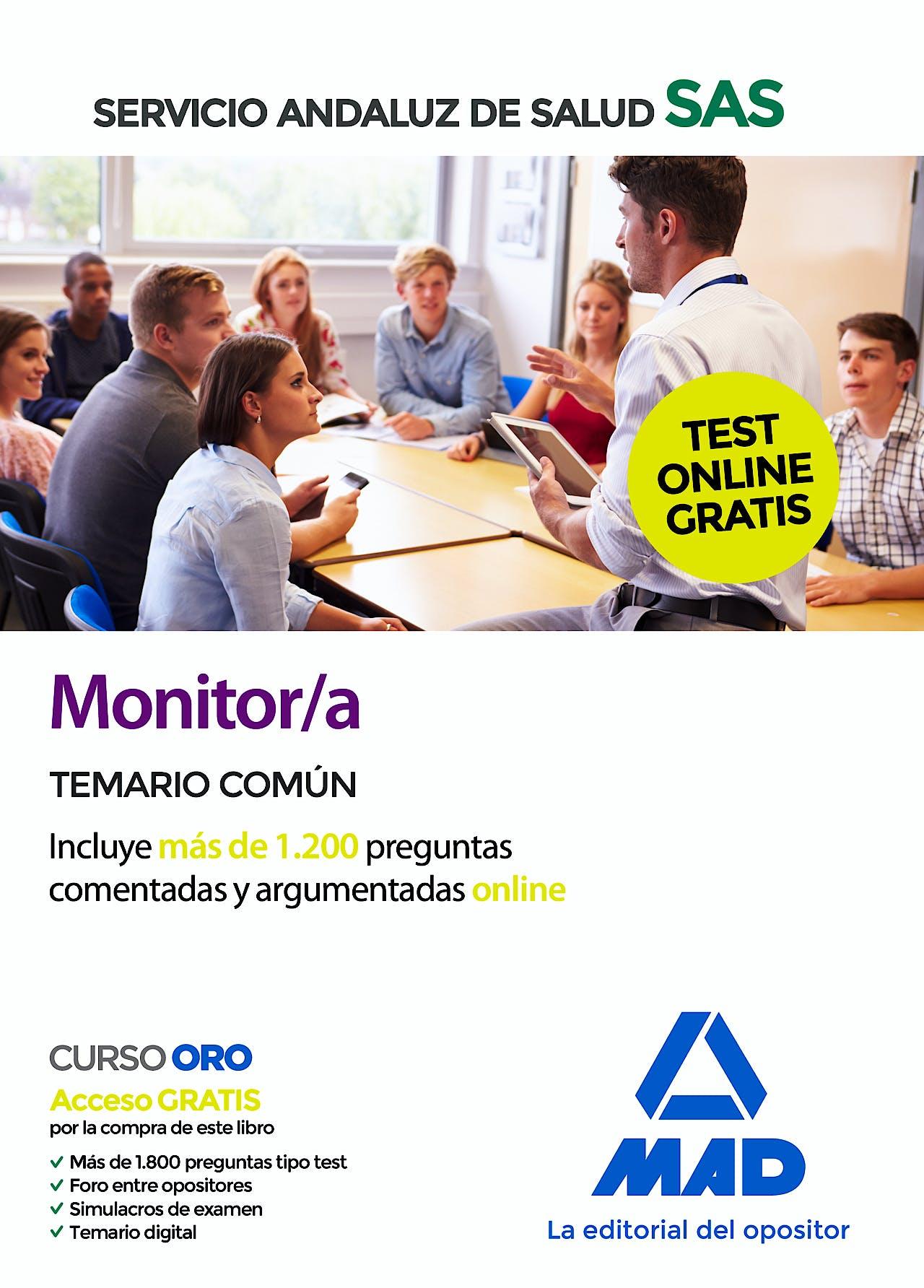 Portada del libro 9788414238400 Monitor/a Servicio Andaluz de Salud (SAS). Temario Común