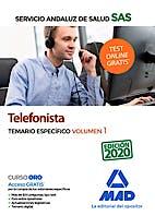Portada del libro 9788414238578 Telefonista Servicio Andaluz de Salud (SAS). Temario Específico, Vol. 1