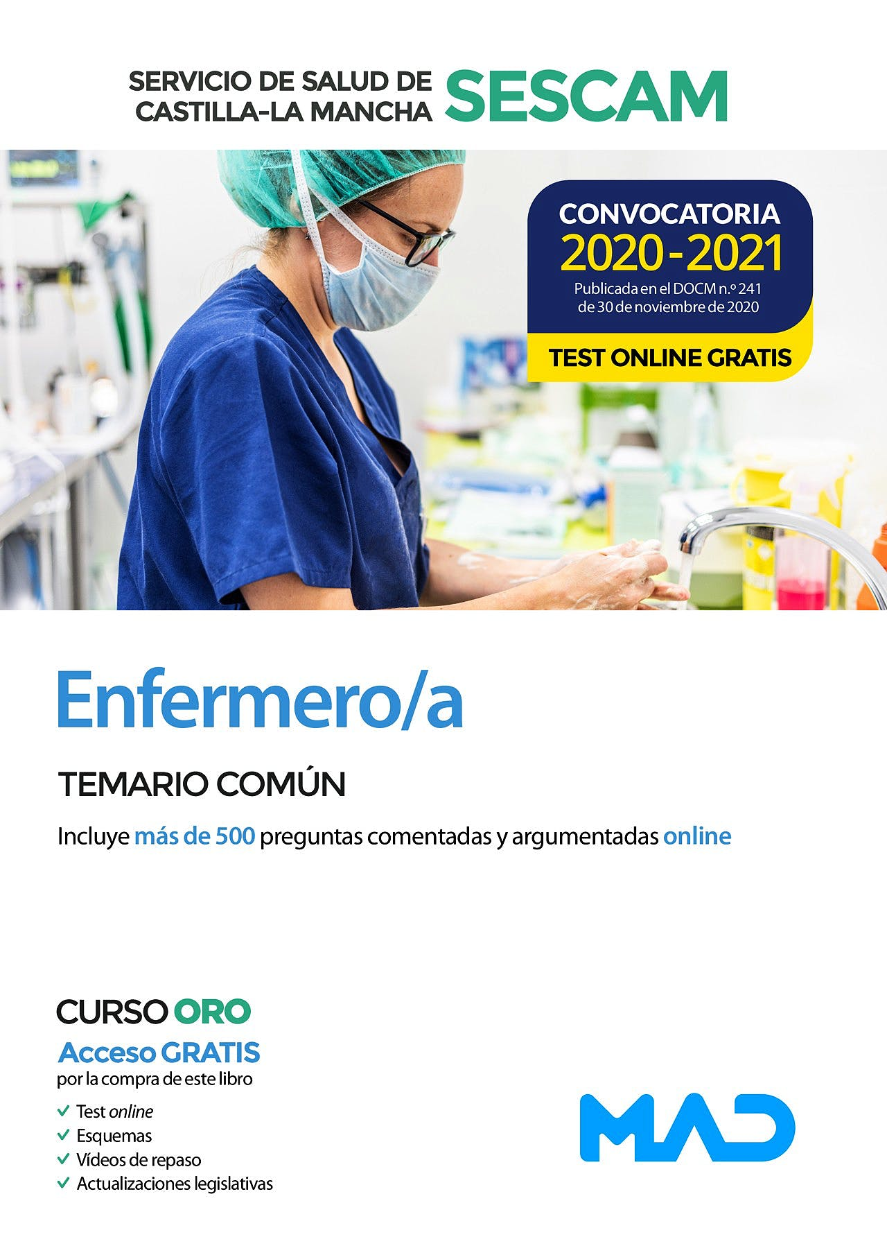Portada del libro 9788414241592 Enfermero/a Servicio de Salud de Castilla-La Mancha (SESCAM). Temario Común