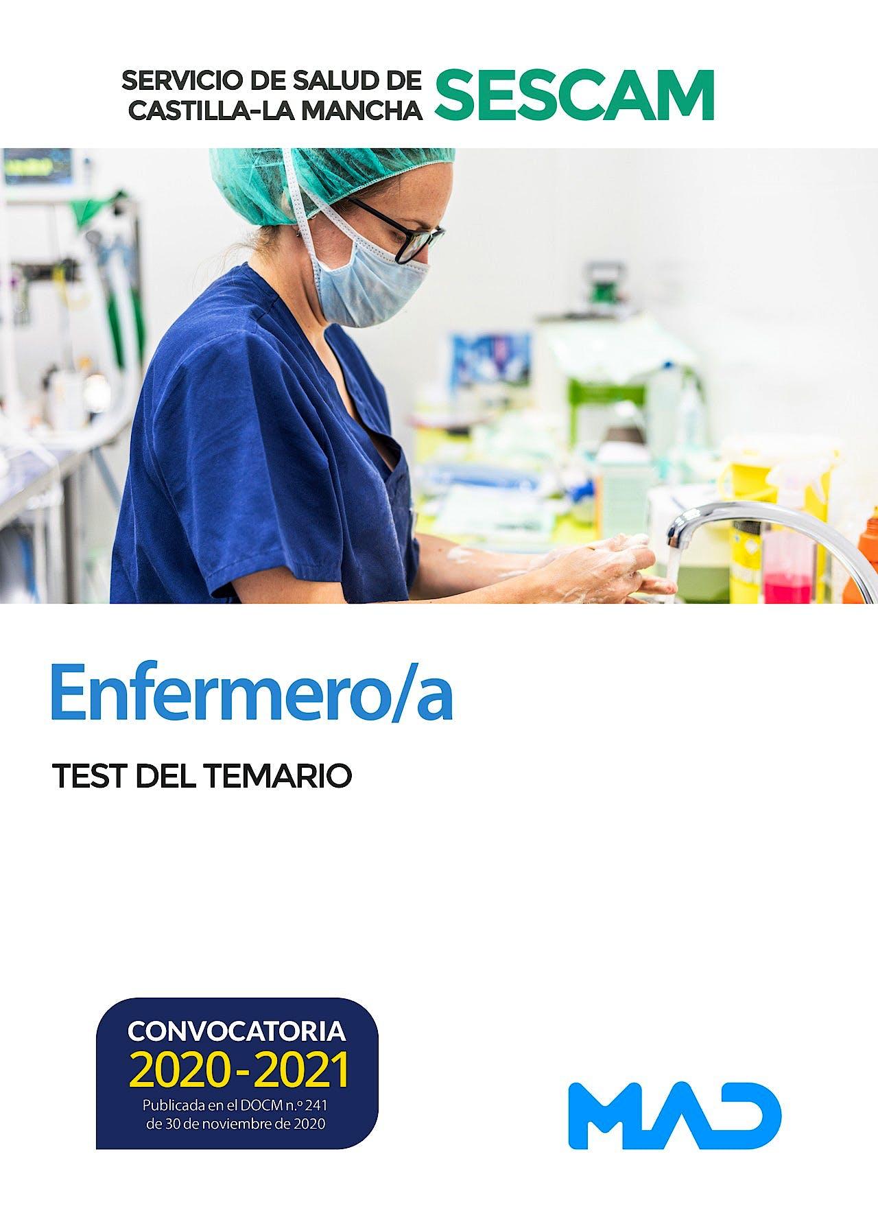 Portada del libro 9788414242391 Enfermero/a Servicio de Salud de Castilla-La Mancha (SESCAM). Test del Temario