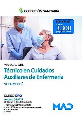 Portada del libro 9788414242667 Manual del Técnico en Cuidados Auxiliares de Enfermería, Vol. 2