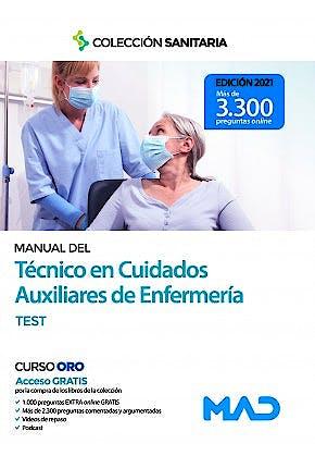 Portada del libro 9788414242766 Manual del Técnico en Cuidados Auxiliares de Enfermería. Test