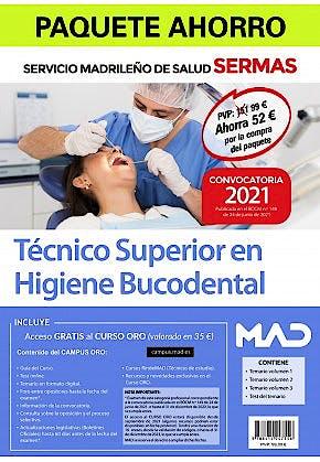 Portada del libro 9788414247556 Paquete Ahorro Técnico/a Superior en Higiene Bucodental Servicio Madrileño de Salud (SERMAS)
