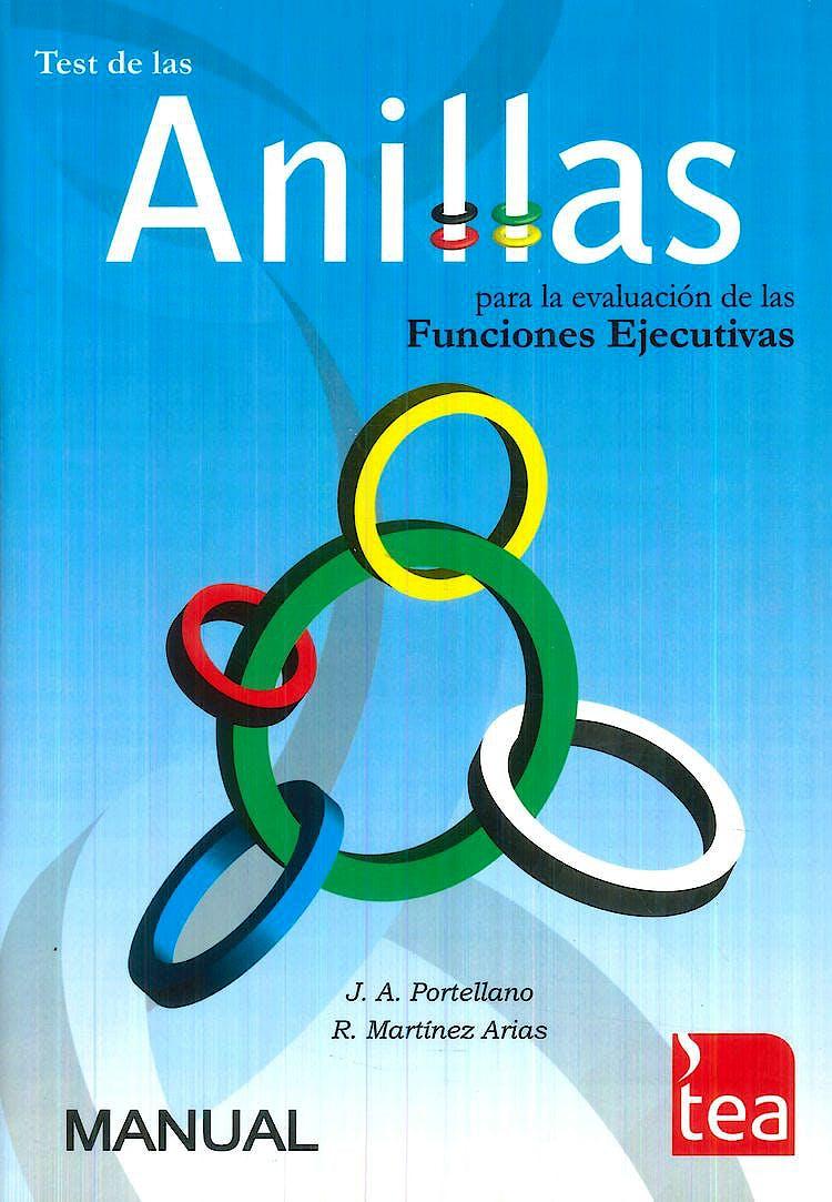 Portada del libro 9788415262220 ANILLAS Test para la Evaluación de las Funciones Ejecutivas. Juego Completo (Manual, Cuaderno de Estímulos, 25 Hojas de Anotación, Tablero con Aros)