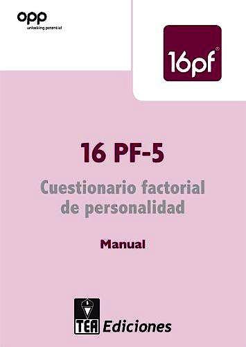 Portada del libro 9788415262275 16pf-5 Cuestionario Factorial de Personalidad