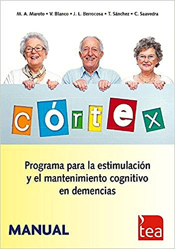 Portada del libro 9788415262442 CÓRTEX. Programa para la Estimulación y el Mantenimiento Cognitivo en Demencias (Juego Completo)