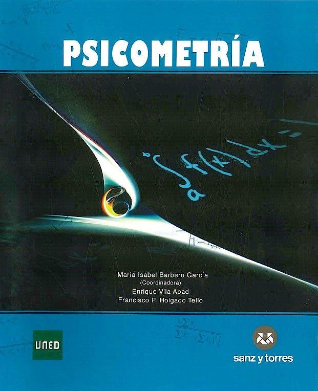 Portada del libro 9788415550891 Psicometria (Teoria y Formulario)
