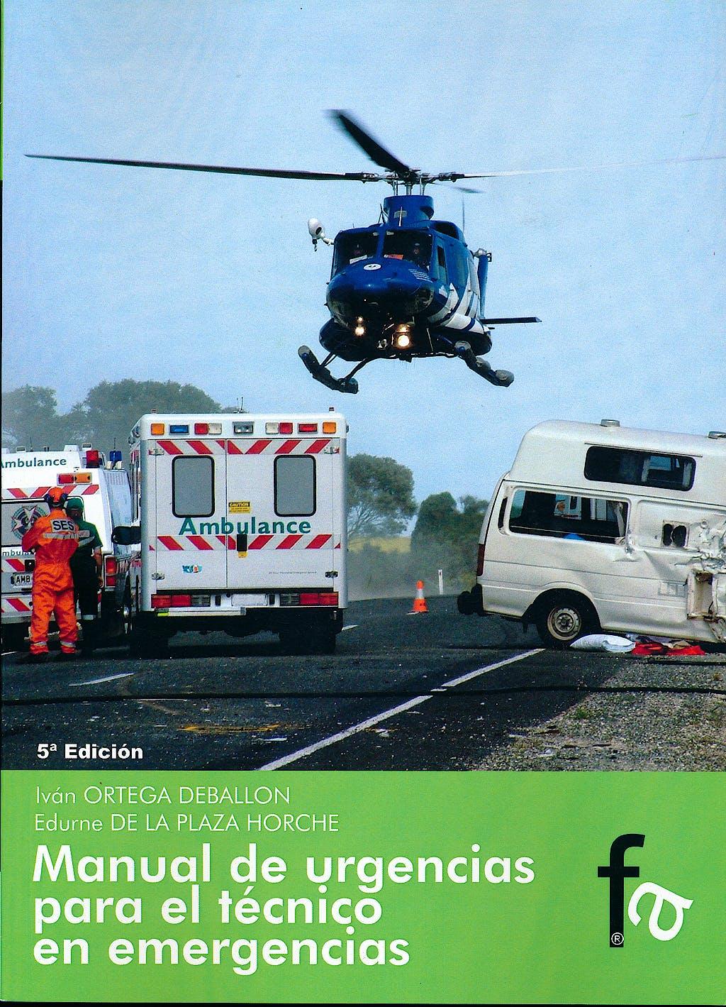 Portada del libro 9788415675587 Manual de Urgencias para el Tecnico en Emergencias
