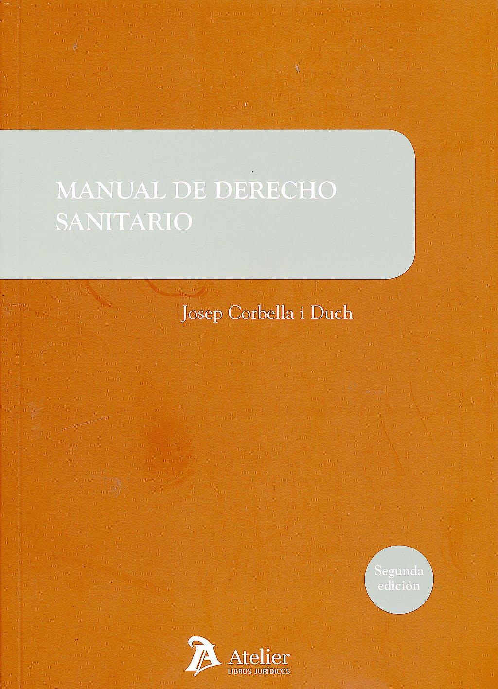 Portada del libro 9788415690016 Manual de Derecho Sanitario