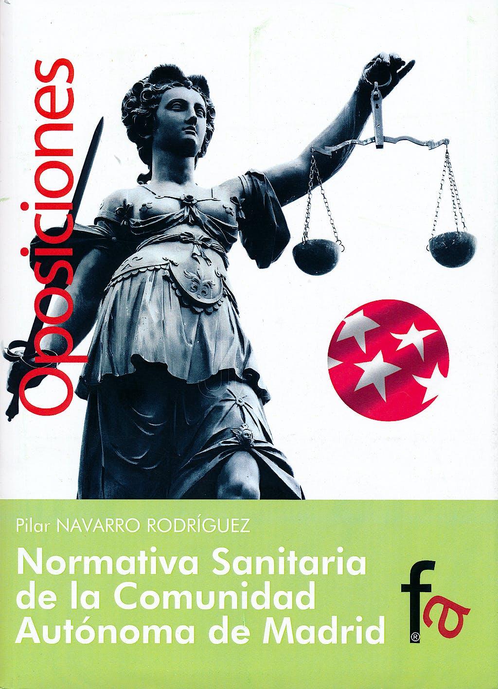 Portada del libro 9788415708902 Normativa Sanitaria de la Comunidad Autonoma de Madrid