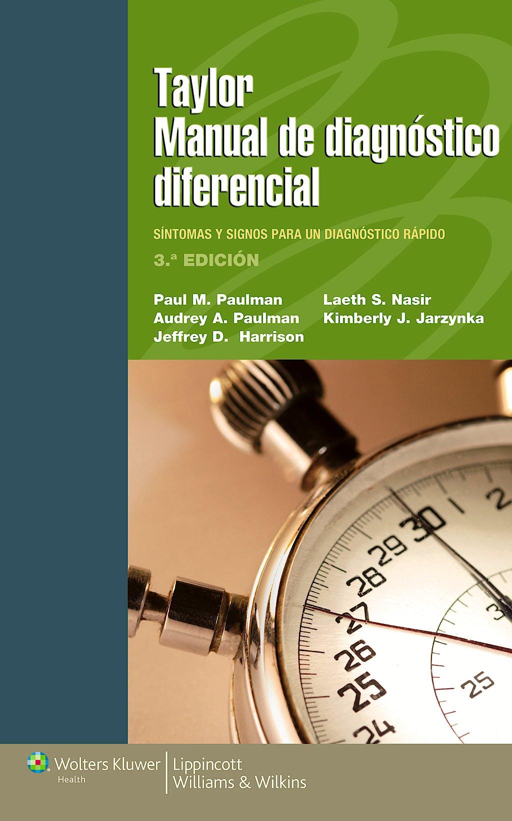 Portada del libro 9788415840800 Taylor Manual de Diagnóstico Diferencial. Signos y Síntomas para un Diagnóstico Rápido