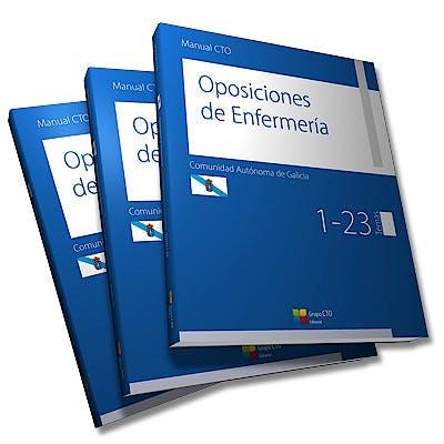 Portada del libro 9788415946786 Manual CTO Oposiciones de Enfermería Comunidad Autonoma de Galicia, 3 Vols.