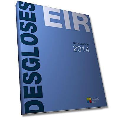 Portada del libro 9788415946939 Desgloses EIR Actualización 2014